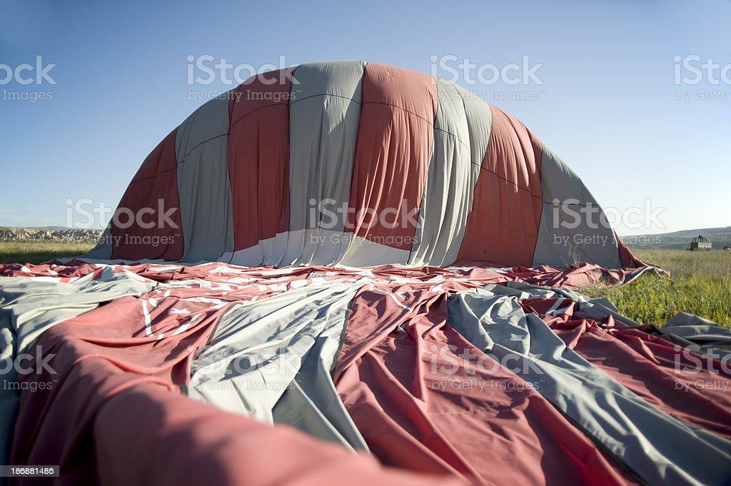 Hot Air Balloon, deflation stock photo
