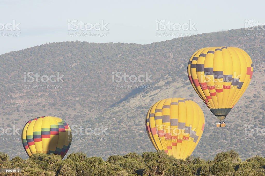 Hot Air Balloon Desert Flight royalty-free stock photo