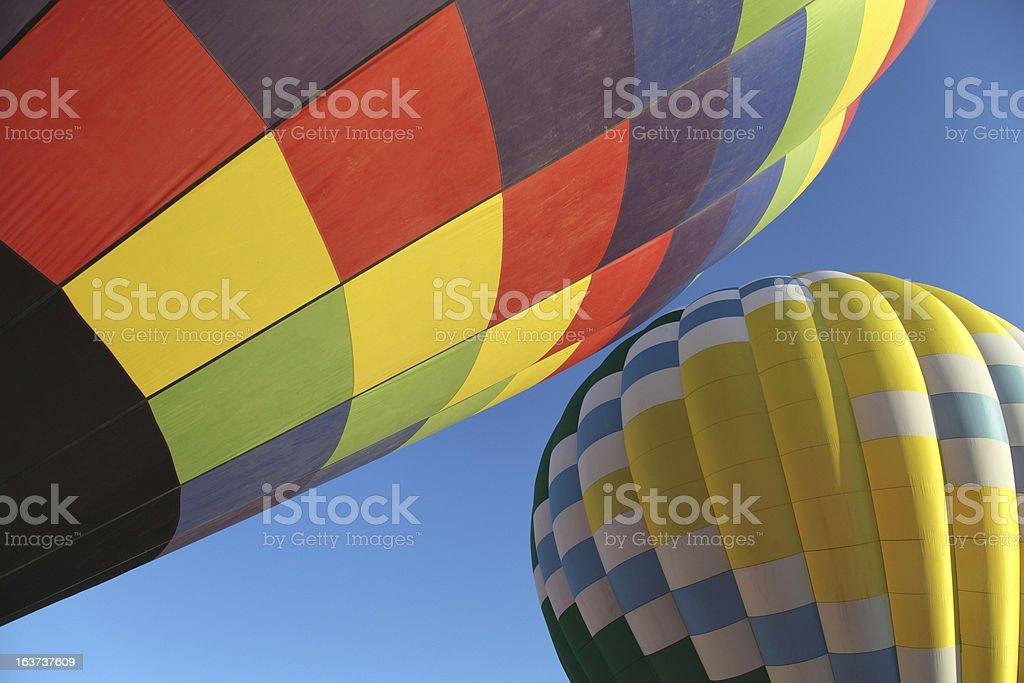Hot Air Balloon Duo stock photo