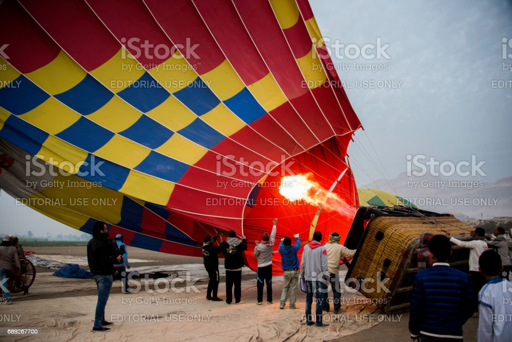 Hot Air Balloon Egypt stock photo