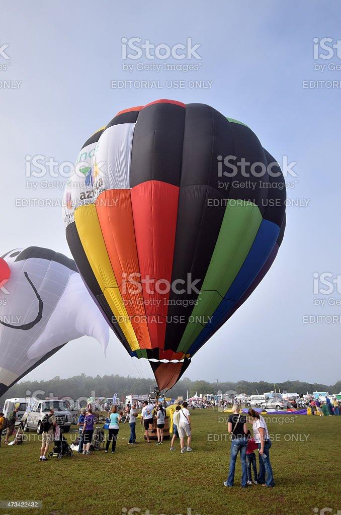 Hot air balloon festival in Florida stock photo