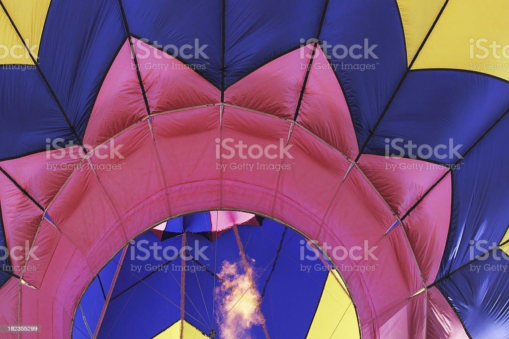 Hot Air Balloon Fiesta Flame royalty-free stock photo