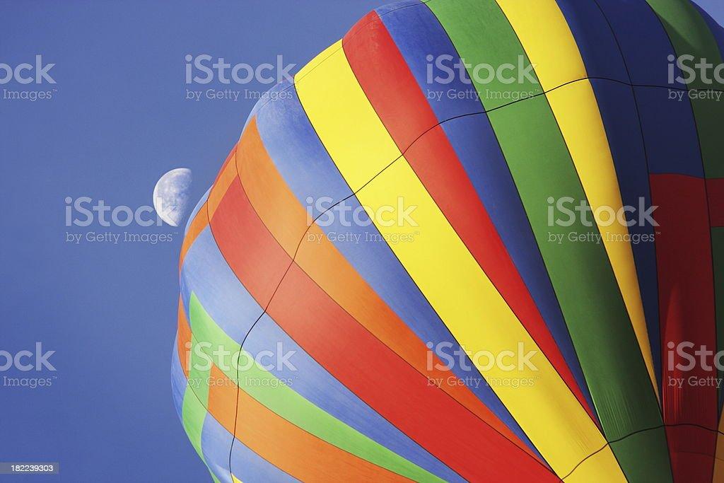 Hot Air Balloon Fiesta Moon royalty-free stock photo