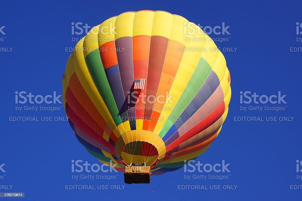 Hot Air Balloon floating at California Balloon Festival stock photo