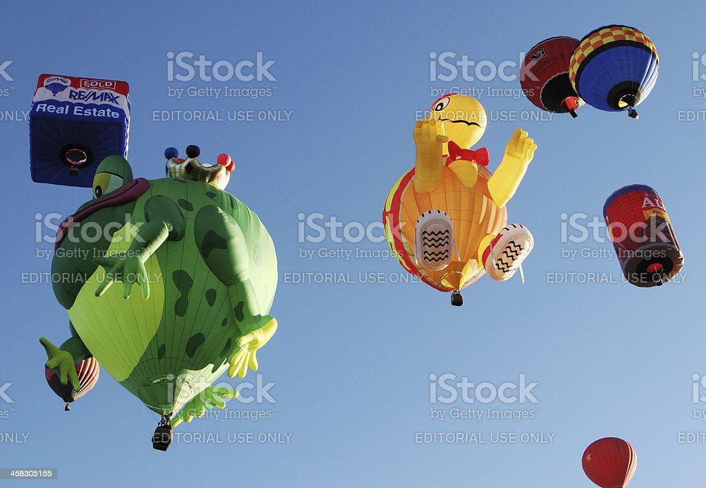 Hot Air Balloon Frog Prince ReMax stock photo