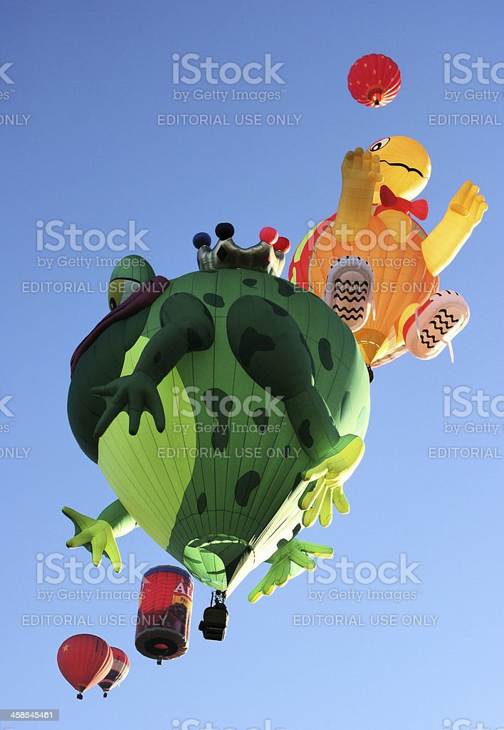 Hot Air Balloon Frog Scarecrow royalty-free stock photo