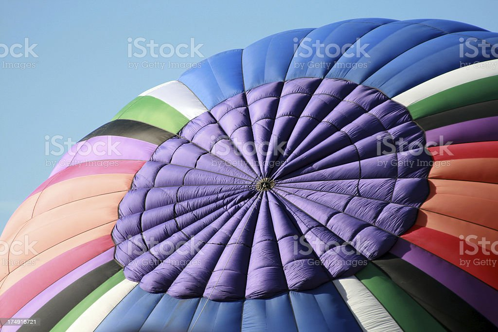 Hot Air Balloon from top royalty-free stock photo