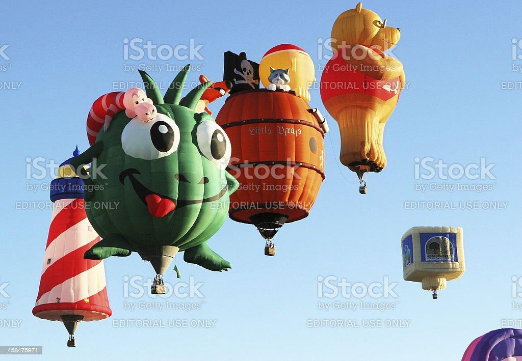 Hot Air Balloon Fun Special Shapes royalty-free stock photo