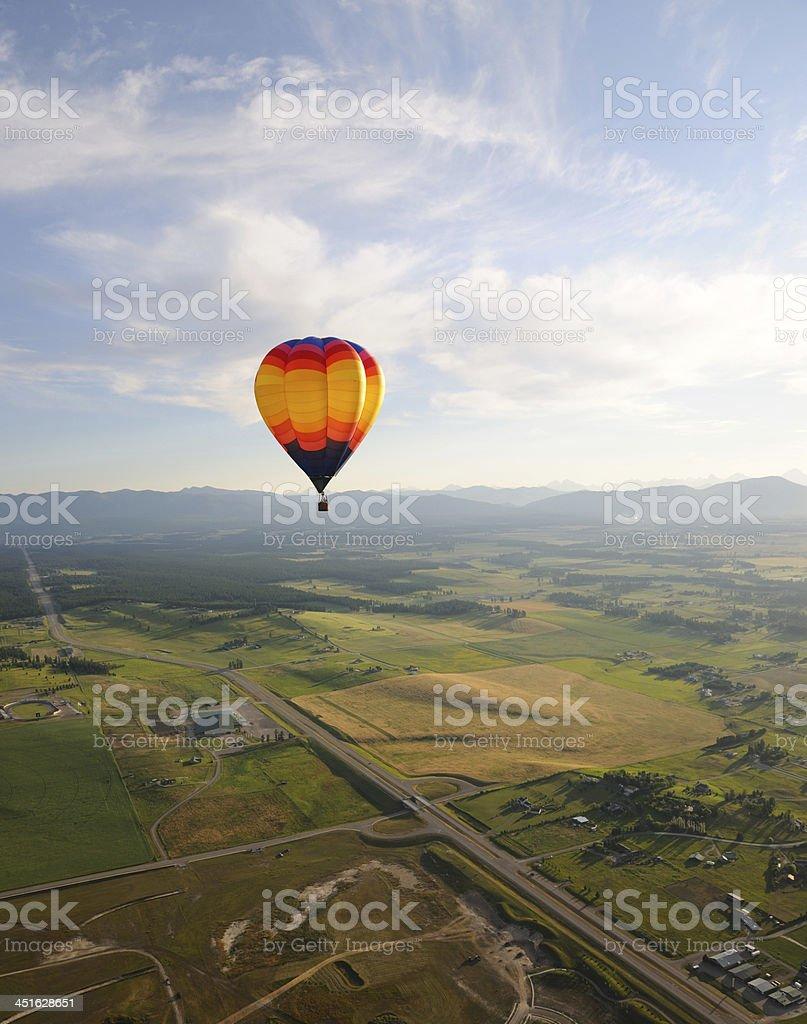 Hot Air Balloon in Montana stock photo