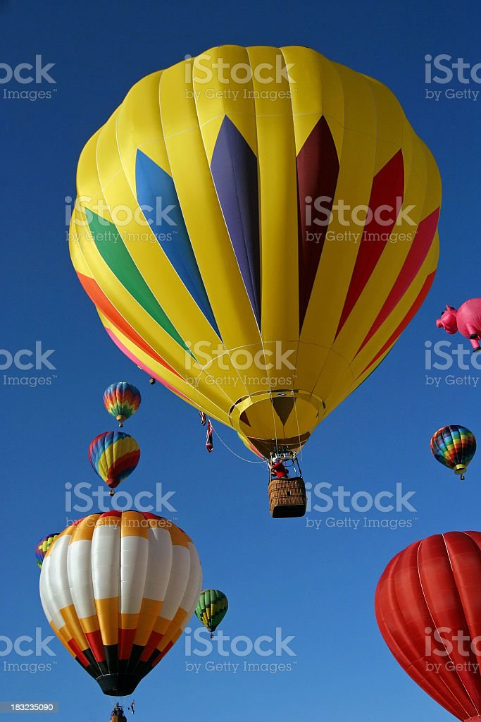 Hot Air Balloon in the sky royalty-free stock photo