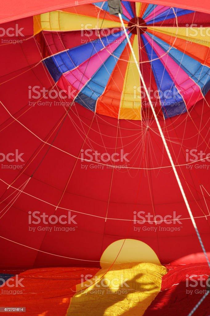 Hot Air Balloon Inflation Crew Shadow stock photo
