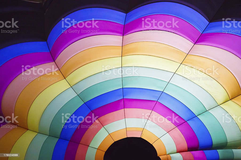 Hot air balloon inside royalty-free stock photo