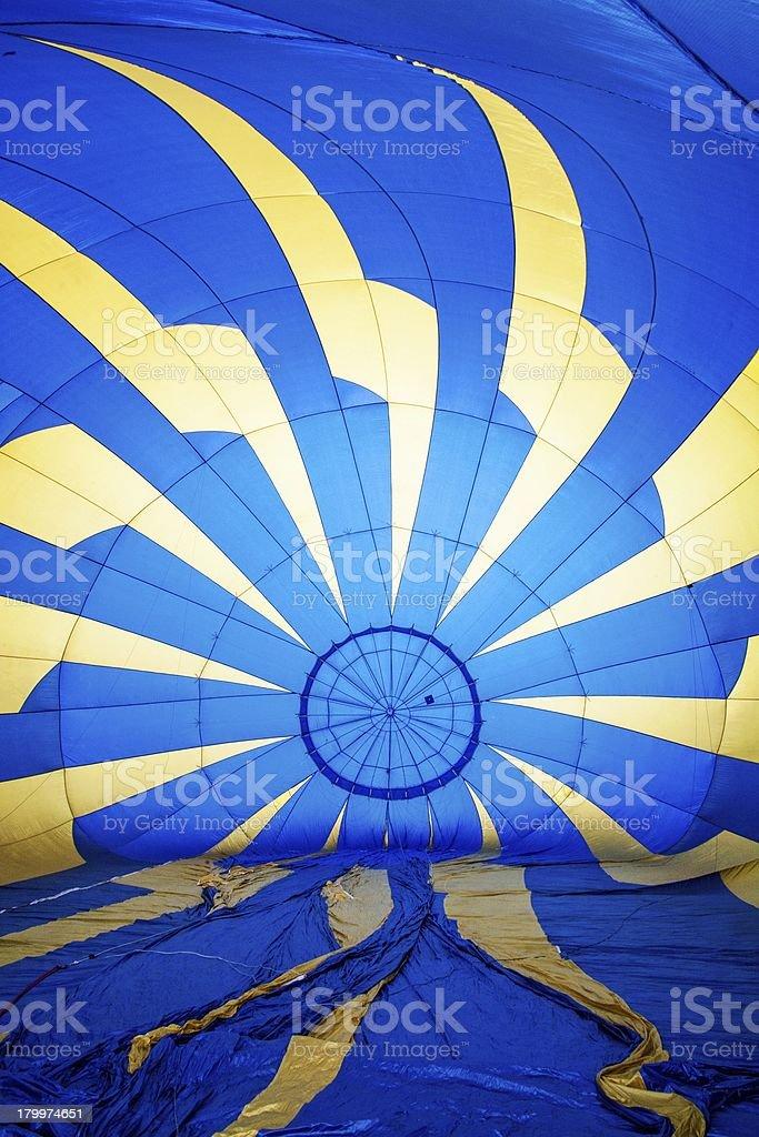 Hot air balloon interior royalty-free stock photo
