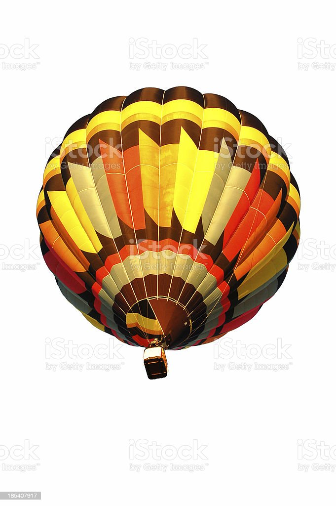 Hot Air Balloon Isolated on White Background. stock photo
