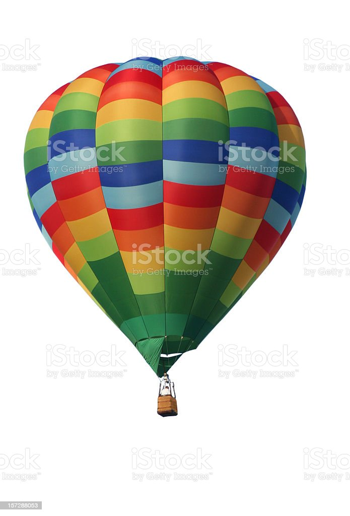 hot air balloon isolated royalty-free stock photo