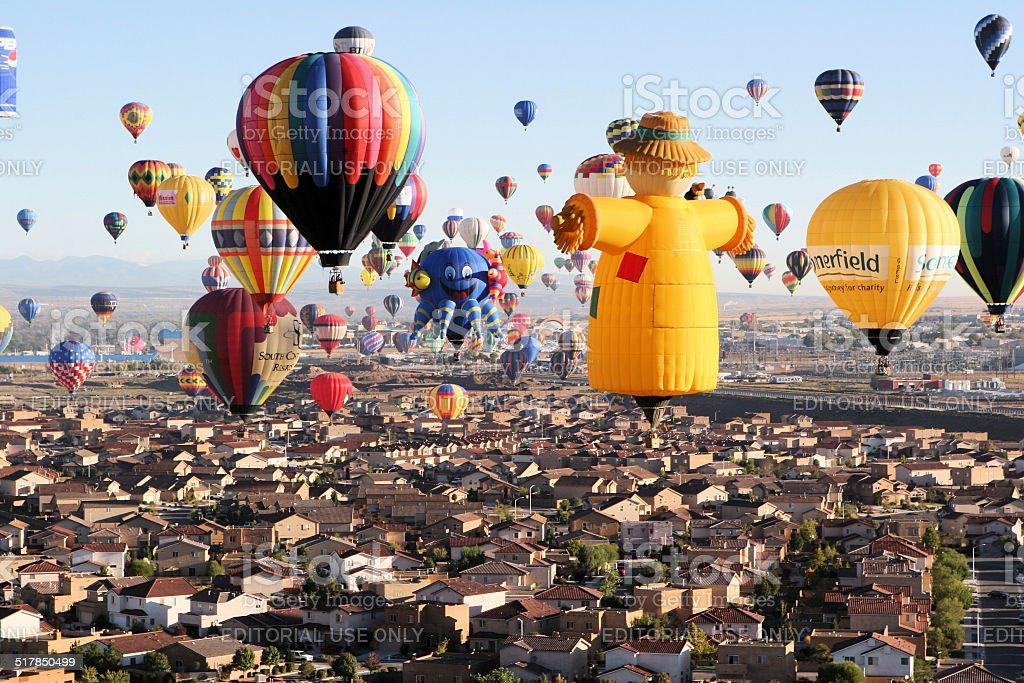 Hot Air Balloon Launch Festival stock photo