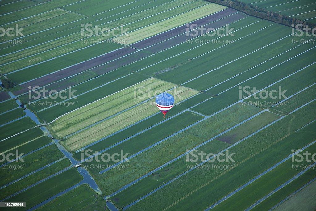 Hot Air Balloon over Holland stock photo