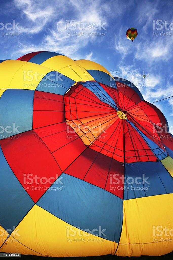 Hot Air Balloon Parachute Valve stock photo