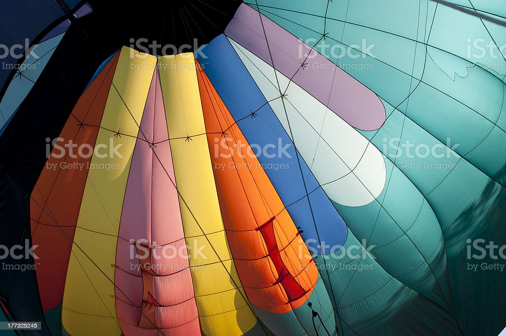 Globo aerostático de aire caliente foto de stock libre de derechos