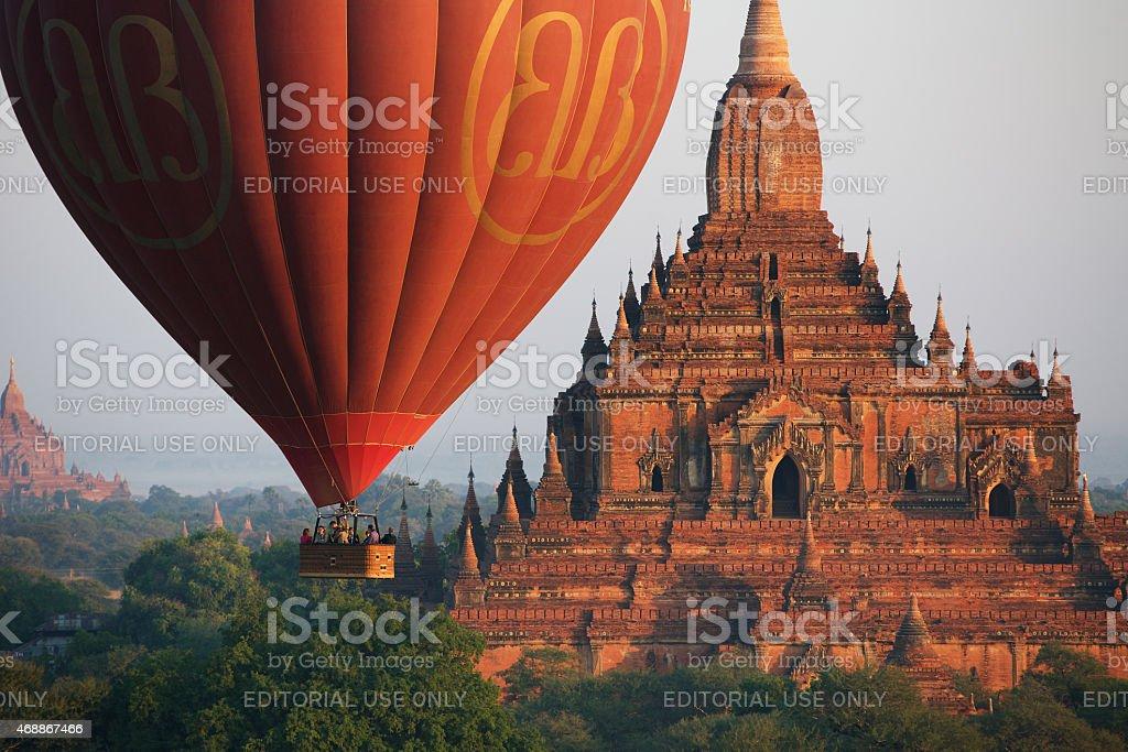 Hot air balloon stock photo