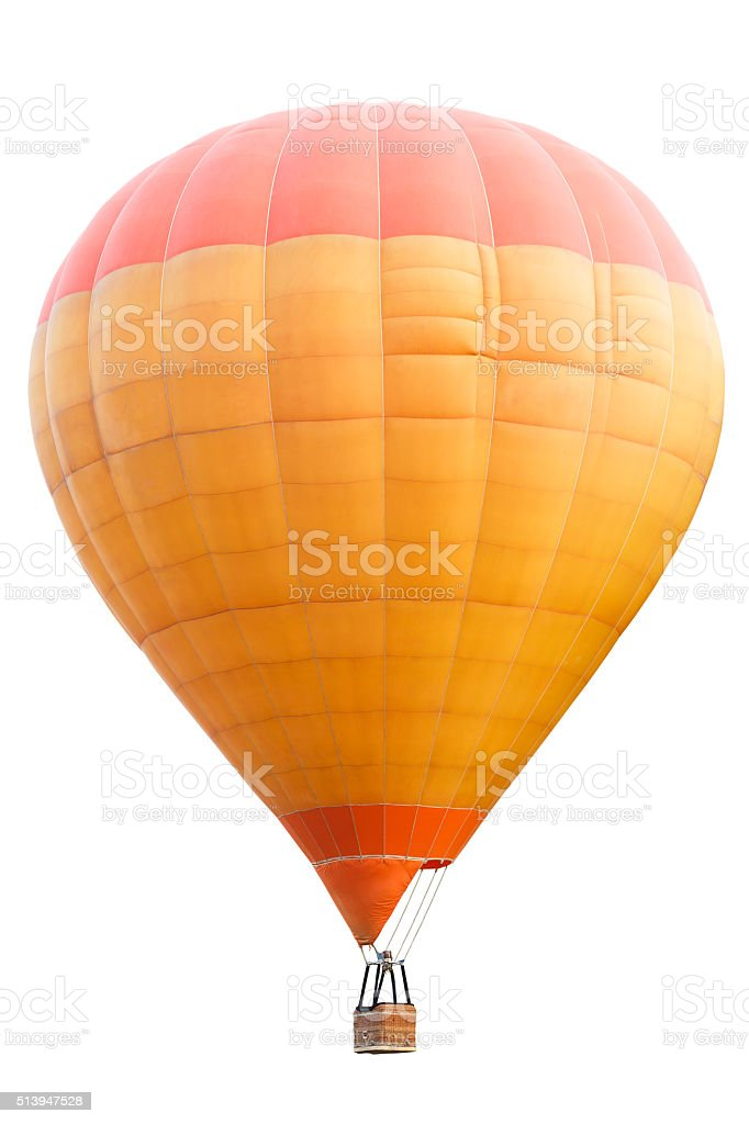 Hot air balloon, Isolated over white background with clipping pathHot...