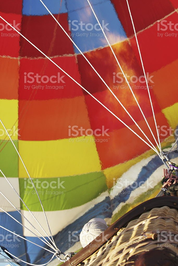 Hot Air Balloon Pilot Ascent royalty-free stock photo