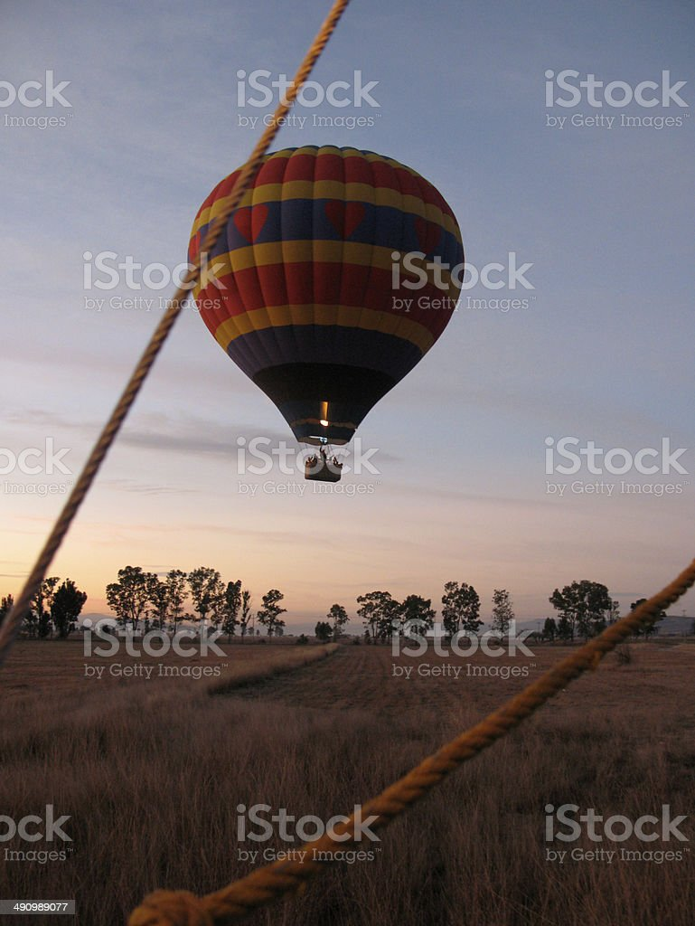 Hot air balloon ride royalty-free stock photo