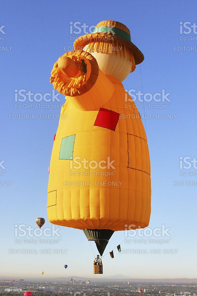 Hot Air Balloon Scarecrow Aircraft royalty-free stock photo