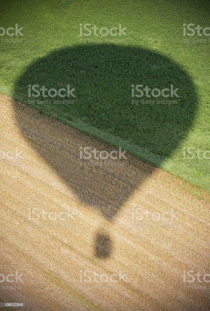 Hot air balloon shadow royalty-free stock photo