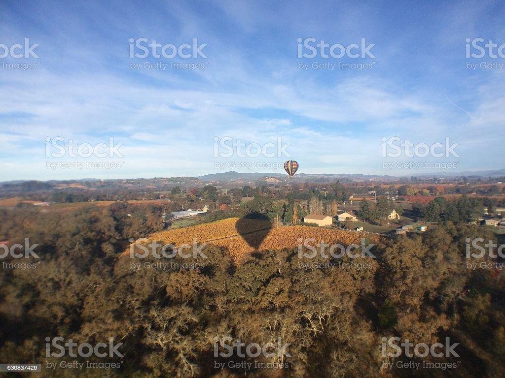 Hot Air Balloon Shadow stock photo