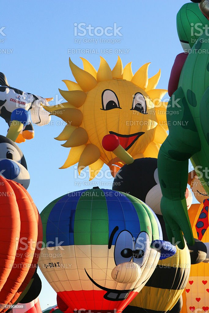 Hot Air Balloon Shapes Ballooning Festival royalty-free stock photo