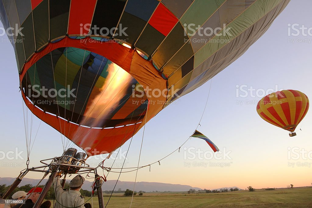 Hot Air Balloon Take Off royalty-free stock photo