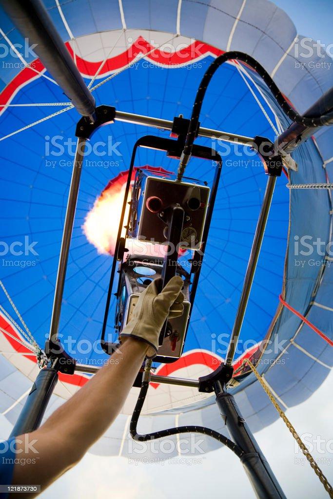 Hot Air Balloon Torch royalty-free stock photo