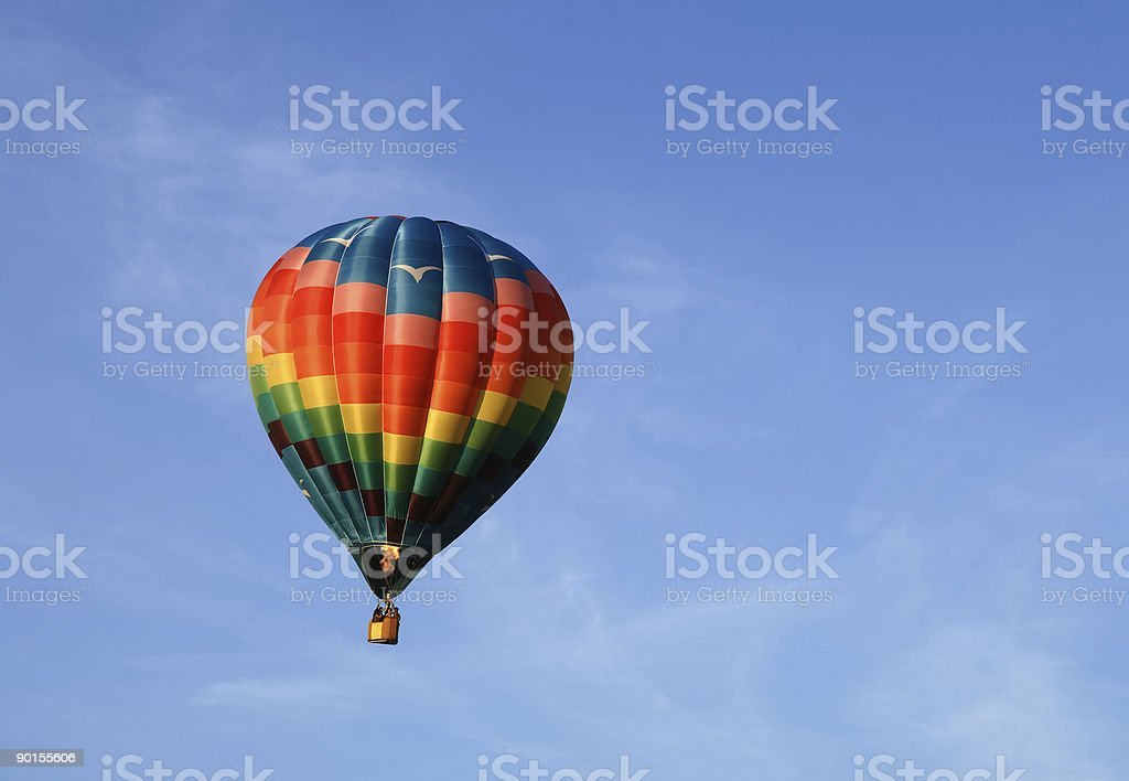 Hot air balloon with propane burners fired into it royalty-free stock photo