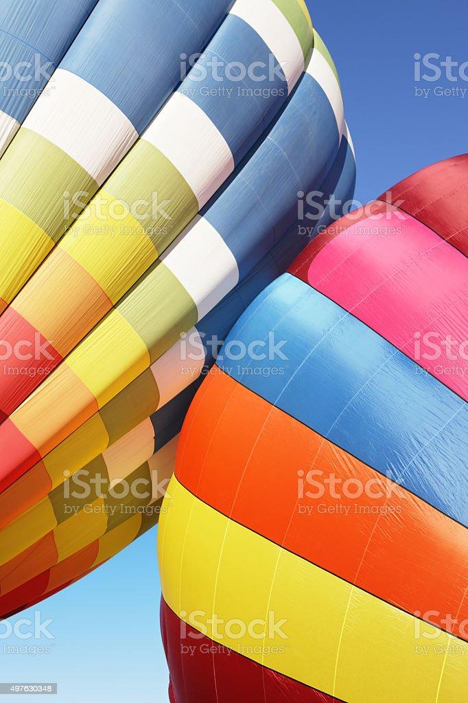 Hot Air Balloons Bumping stock photo