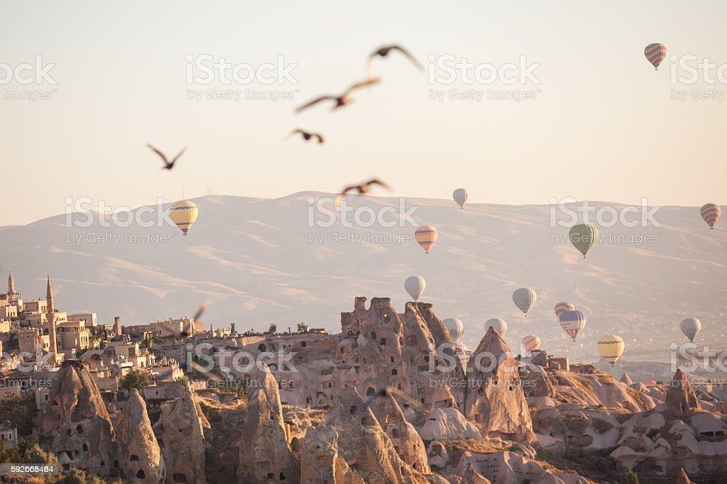 Hot Air Balloons In Cappadocia,Turkey stock photo