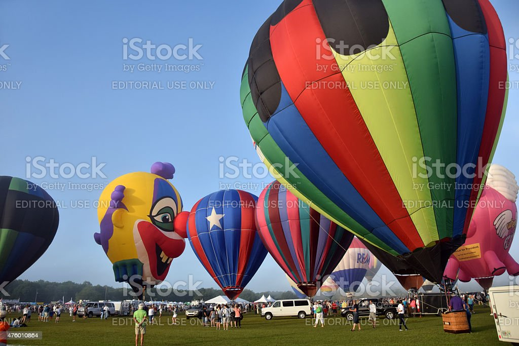 Hot air balloons in Immokalee Florida stock photo