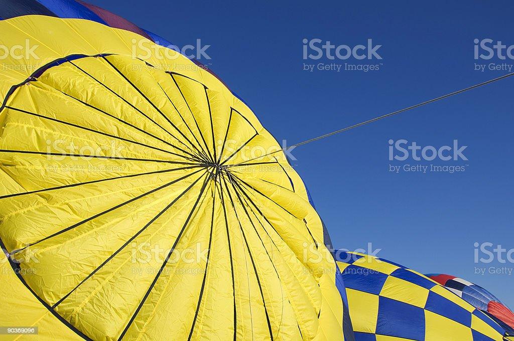 Hot Air Balloons - Inflating stock photo
