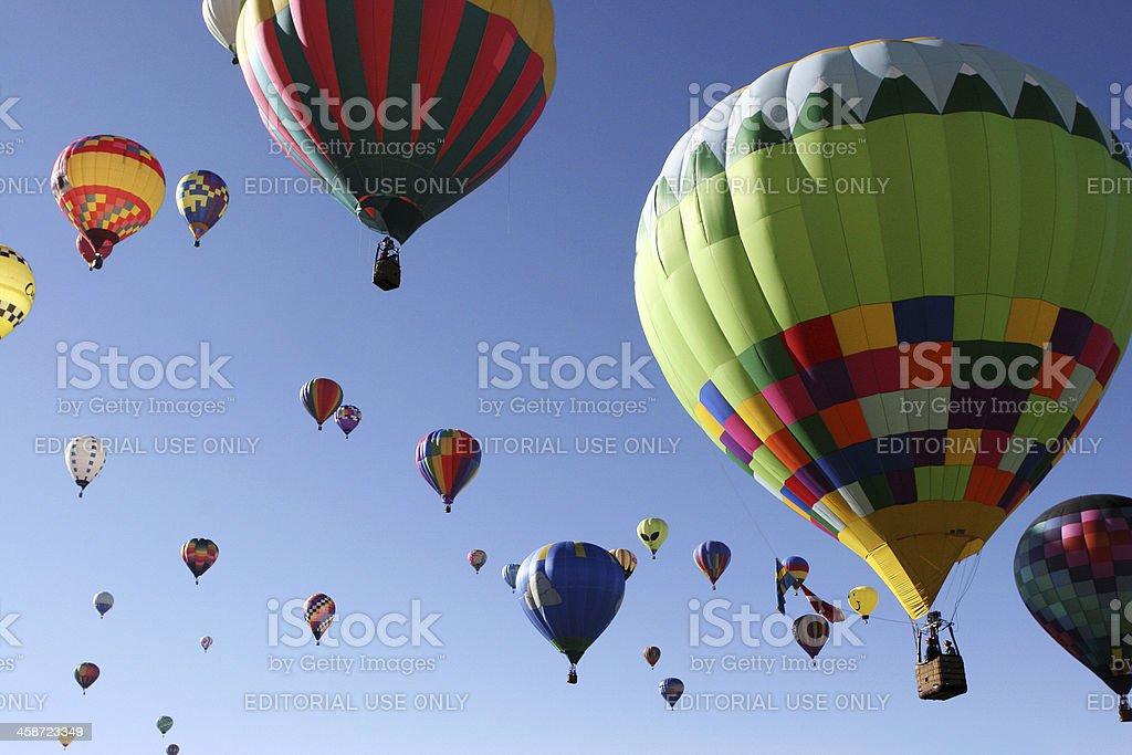 Hot Air Balloons Launch Skyward royalty-free stock photo