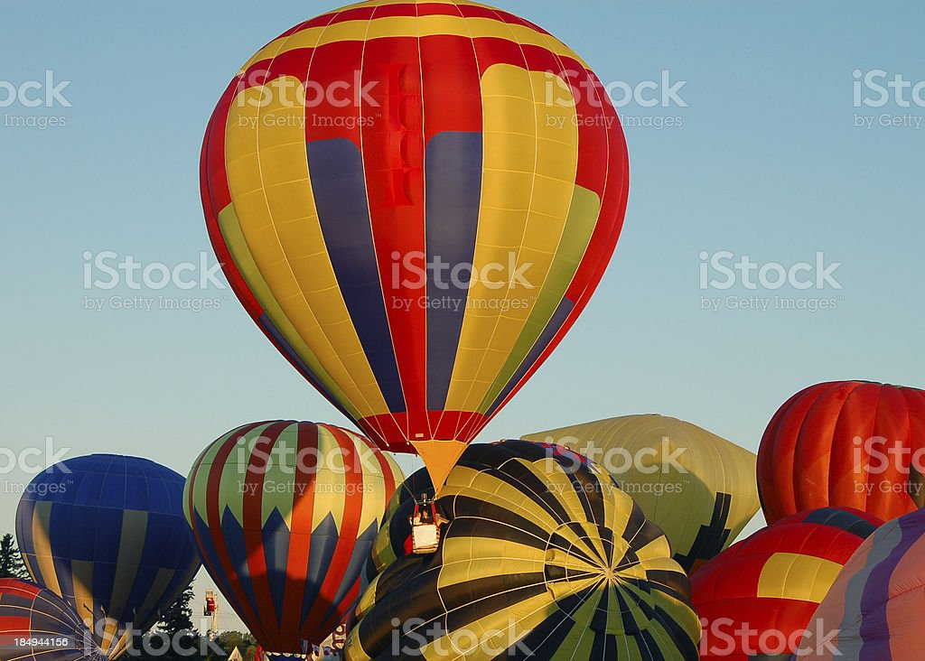 Hot Air Balloons launching royalty-free stock photo