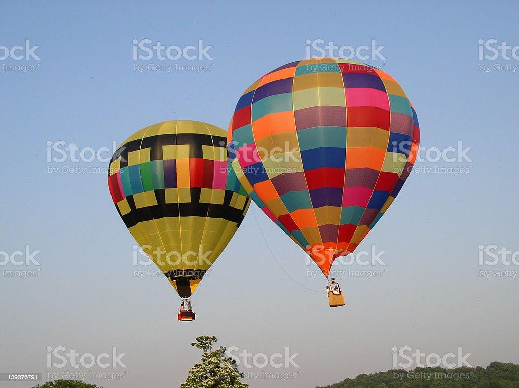 2 hot air balloons royalty-free stock photo