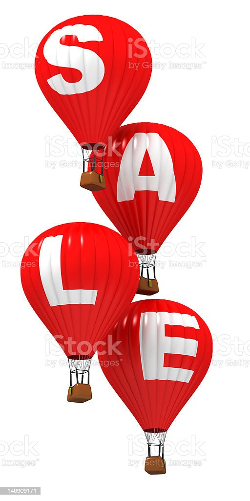 SALE - Hot air balloons royalty-free stock photo