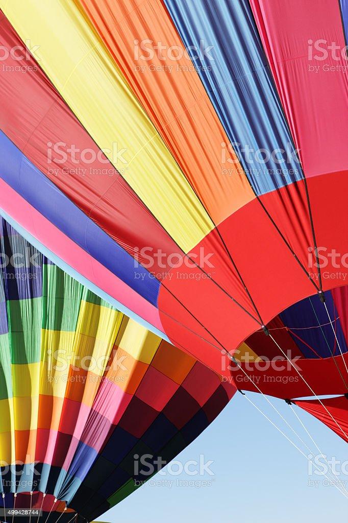 Hot Air Balloons Rising stock photo