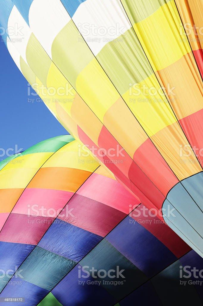 Hot Air Balloons Sunrise Illumination stock photo