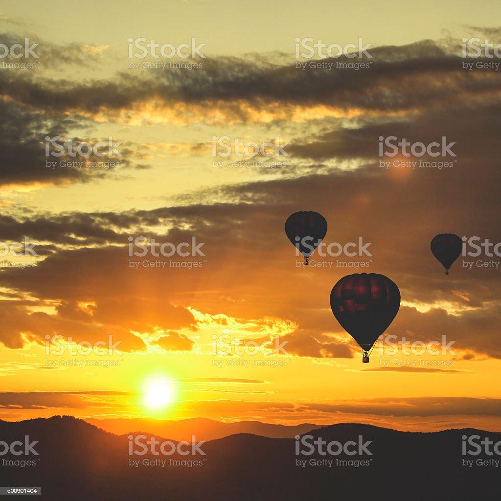 Hot air baloons stock photo