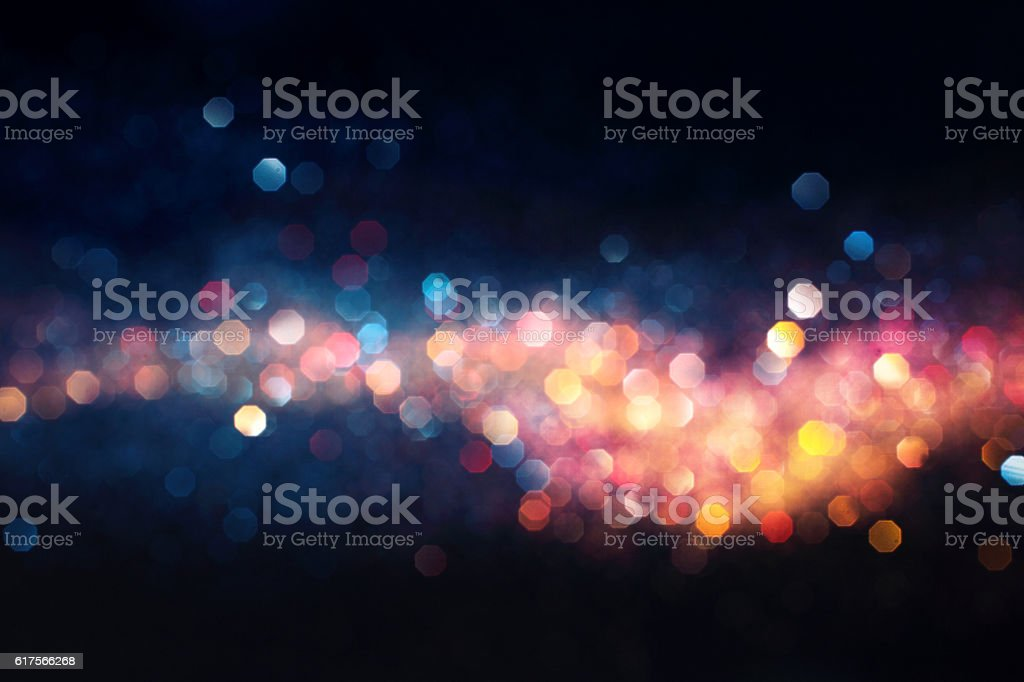 hot and cold defocused lights stock photo