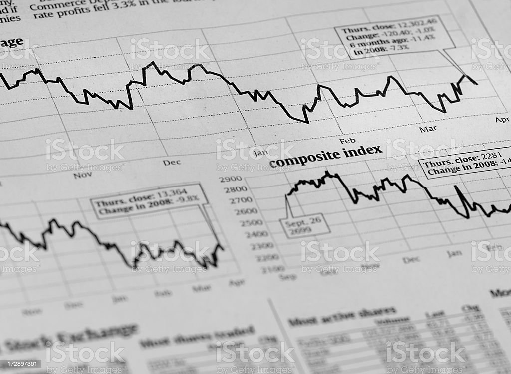 Hot and Cold Stock Market royalty-free stock photo