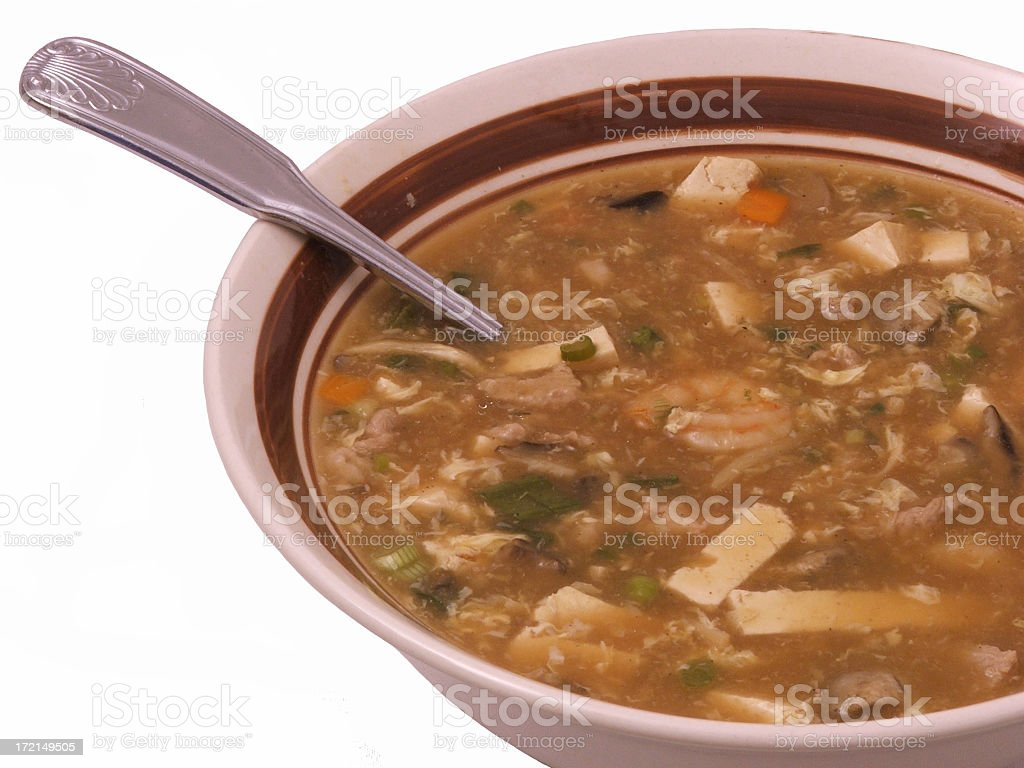 Hot and Sour Soup royalty-free stock photo