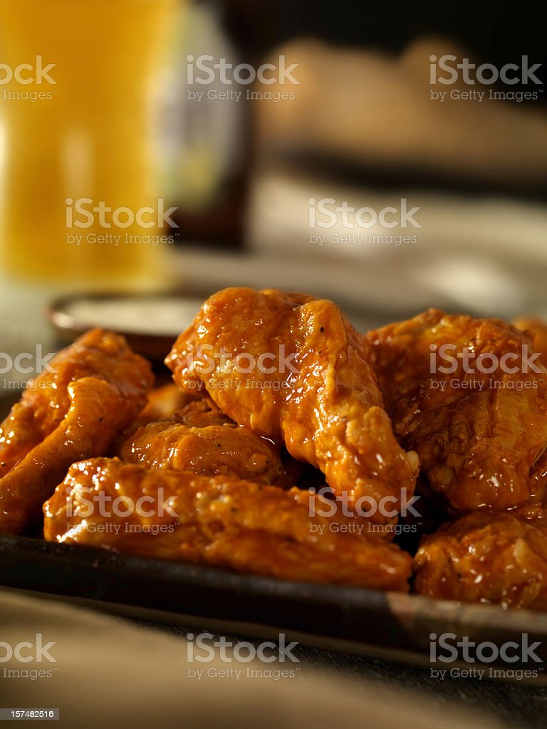 Hot and Spicy Buffalo Wings stock photo