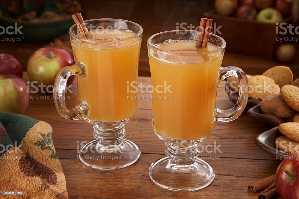 Hot Apple Cider for two stock photo